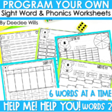 Sight Words Intervention 2 BIG WORDS ~ Editable! Help Me!