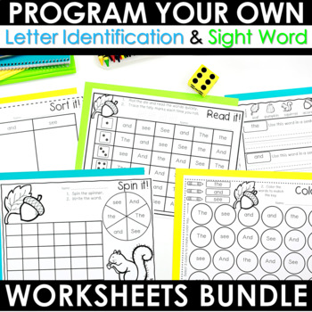 Sight Words Intervention THE BUNDLE ~ Editable! Help Me! Help You!