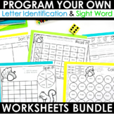 Sight Words Intervention THE BUNDLE ~ Editable! Help Me! H