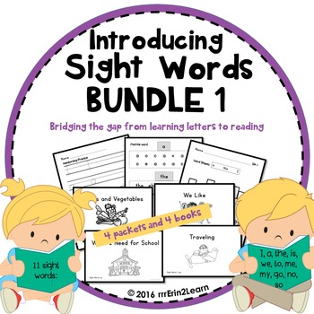 Sight Words Introduction Lessons and Sight Word Books 1