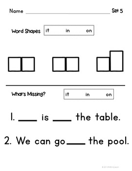 Sight Words Introduction Lessons and Books 2