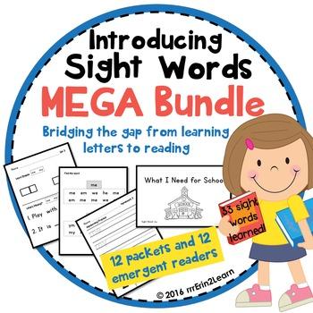 Sight Words Introduction and Emergent Reader Mega Bundle