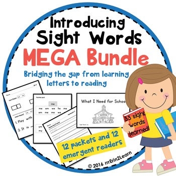 Sight Words Introduction and Emergent Reader Mega Bundle