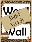 ALL Kindergarten High Frequency Words (Sight Words) Posters – Jungle