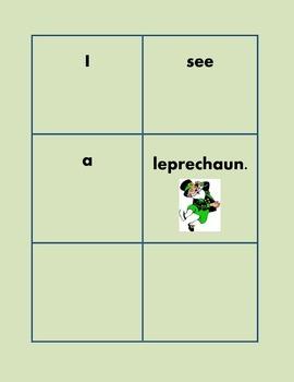 Sight Words K-1 Class Activity and Leprechaun Literacy Center