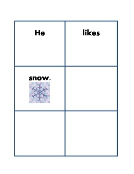 Sight Words K-1 Class Activity and Snow Literacy Center