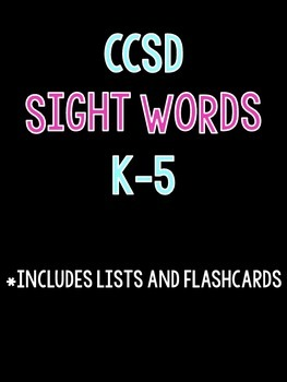 Sight Words K-5 Lists and Flashcards for CCSD