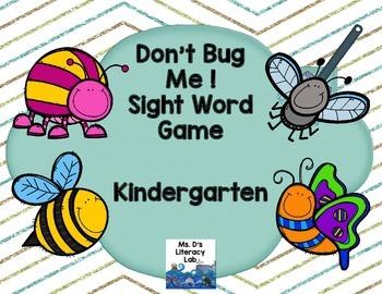 Fry Sight Words: Kindergarten (Bugs)