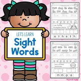Sight Words Worksheets (Kindergarten Sight Word Practice)