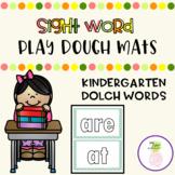 Sight Word Play Dough Mats - Kindergarten