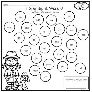 Sight Words - Kindergarten