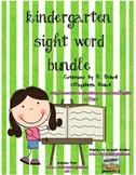 Sight Words Kindergarten Bundle 1