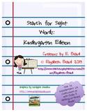 Sight Words: Kindergarten Crossword Puzzles