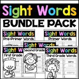 Sight Words Kindergarten, First, and Second Grade Words -