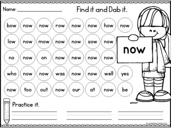 Sight Words Kindergarten (Primer Words)