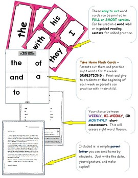Sight Words Kindergarten - Read, Trace, Write, Color, Fill (No! Prep!) ~ SET 3