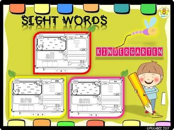 Sight Words Kindergarten {Set 3}