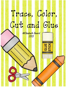 Sight Words Kindergarten Trace, Color, Cut and Glue