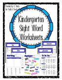Sight Words - Kindergarten - Worksheets & Interactive Notebooks