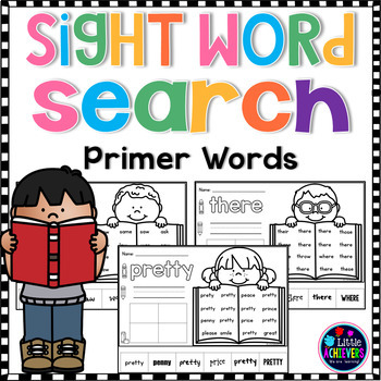 Sight Words Kindergarten Worksheets - PRIMER WORDS