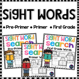 Sight Words Worksheets Kindergarten and First Grade BUNDLE