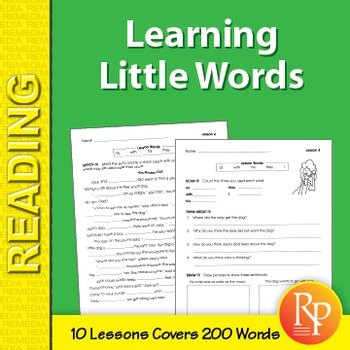 Sight Words: Learning Little Words 1