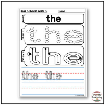 Sight Words Worksheets Free