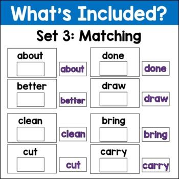 Sight Words Level 5 Task Card Set