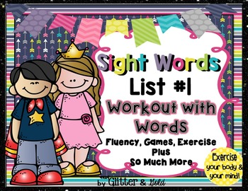 Sight Words List 1 BRAIN-ercises, Games, Flashcards and So Much More Freebie!