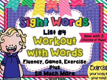 Sight Words List 4 BRAIN-ercises, Games, Flashcards and SO
