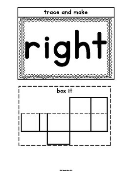 Sight Word Interactive Notebook Second Grade Set 2 (around, don't, right, green)