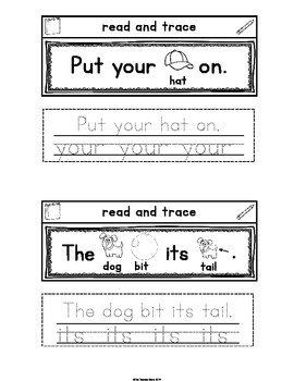 Sight Words Interactive Notebook Second Grade Set 1 (would, very, your, its)