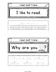 Sight Words Interactive Notebook Second Grade Set 10 (read, why, found, because)
