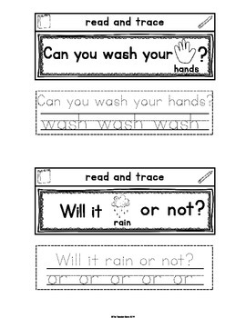 Sight Words Interactive Notebook Second Grade List Set 4 -wash, or, before, been