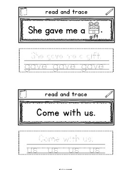 Sight Words Interactive Notebook Second Grade Set 7 (always, made, gave, us)