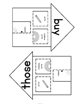 Sight Words Interactive Notebook Second Grade Set 8 (buy, those, use, fast)
