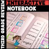 Sight Words Interactive Notebook Review Third Grade List