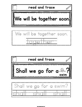 Sight Word Interactive Notebook Third Grade Set 10(clean, grow, together, shall)
