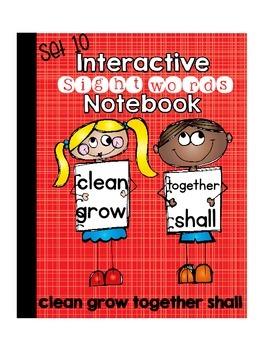 Sight Word Interactive Notebook Third Grade Set 10(clean,