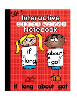 Sight Words Interactive Notebook Third Grade Set 1 (if, lo