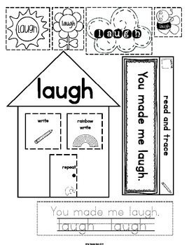 Sight Words Third Grade List Set 11 (laugh) Interactive Notebook FREEBIE