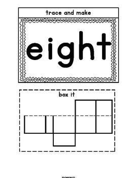 Sight Words Interactive Notebook Third Grade Set 2 (six, never, seven, eight)