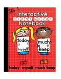 Sight Words Interactive Notebook Third Grade Set 3 (today, myself, much, keep)