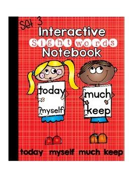 Sight Words Interactive Notebook Third Grade Set 3 (today,