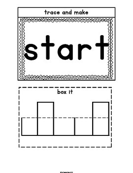Sight Words Interactive Notebook Third Grade List Set 4 (try, start, ten, bring)
