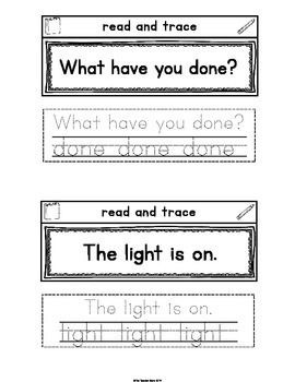 Sight Word Interactive Notebook Third Grade List Set 6 (warm, full, done, light)