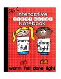 Sight Word Interactive Notebook Third Grade List Set 6 (warm, full, done, light)