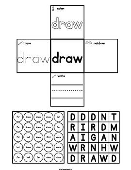 Sight Words  Interactive Notebook Third Grade Set 9 (show, hot, far, draw)
