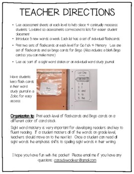 Dolch Sight Words - Lists, Flashcards & Games