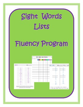 Sight Words Lists Fluency Program